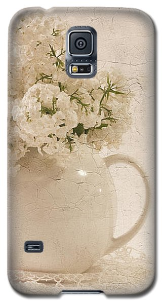 Galaxy S5 Case featuring the photograph Jug Of White Lilacs by Sandra Foster