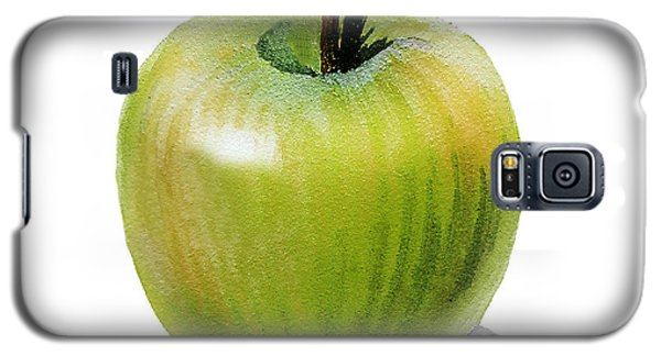 Galaxy S5 Case featuring the painting Juicy Green Apple by Irina Sztukowski