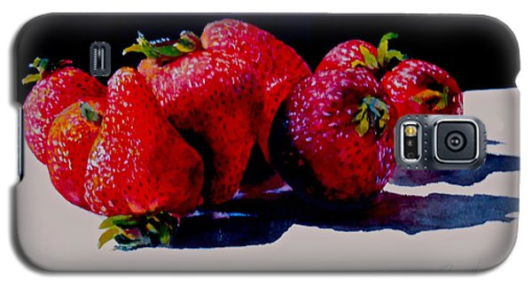 Juicy Strawberries Galaxy S5 Case by Sher Nasser