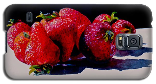 Galaxy S5 Case featuring the painting Juicy Strawberries by Sher Nasser