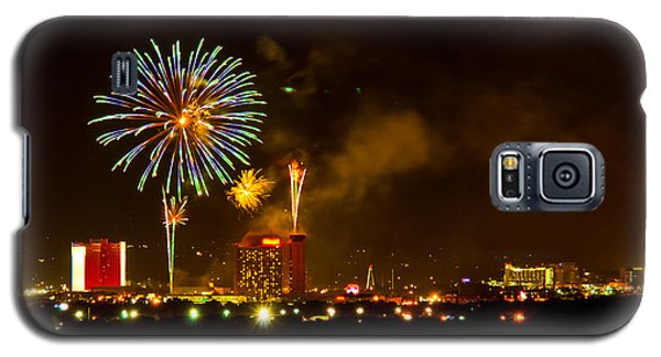 Galaxy S5 Case featuring the photograph July 4th Sparks Nevada by Janis Knight