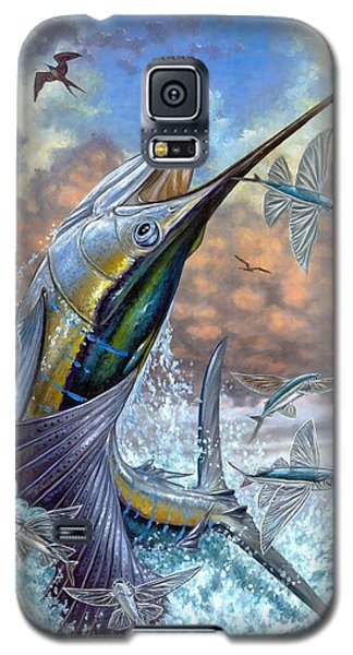 Jumping Sailfish And Flying Fishes Galaxy S5 Case