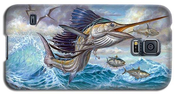 Jumping Sailfish And Small Fish Galaxy S5 Case