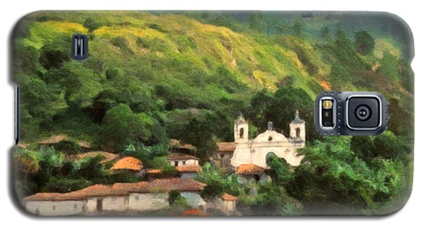 Galaxy S5 Case featuring the digital art Jungle Church Honduras by Spyder Webb