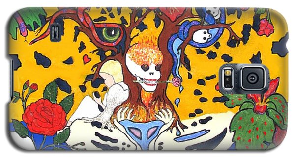 Galaxy S5 Case featuring the painting Jungle Fever by Stephanie Grant