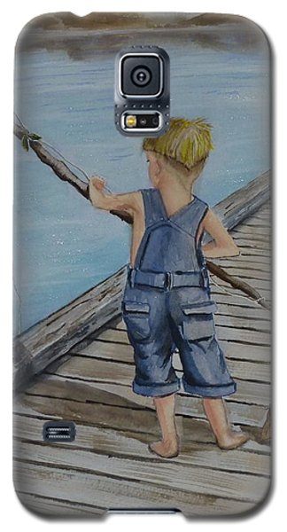 Juniors Amazing Fishing Pole Galaxy S5 Case