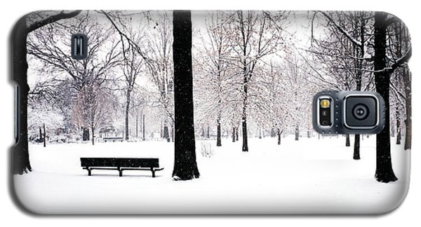 Jupiter Park In Snow Galaxy S5 Case by Mark Garbowski
