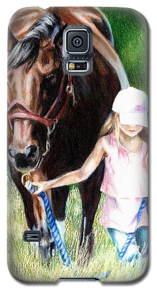Just A Girl And Her Horse Galaxy S5 Case by Shana Rowe Jackson