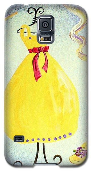 Galaxy S5 Case featuring the painting Just A Simple Hat And Dress by Eloise Schneider