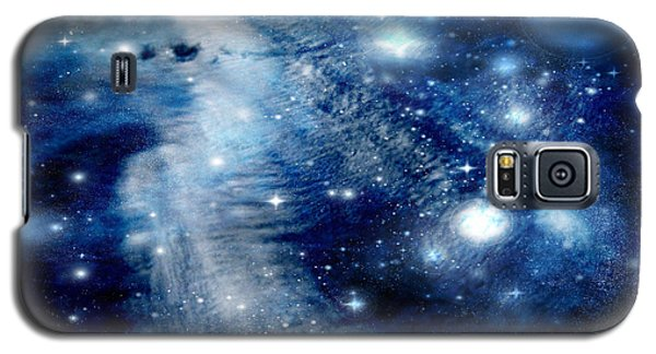 Galaxy S5 Case featuring the digital art Just Beyond The Moon by Janice Westerberg