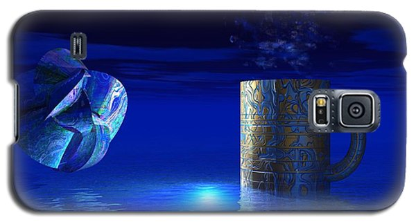 Galaxy S5 Case featuring the digital art Just Blue by Jacqueline Lloyd