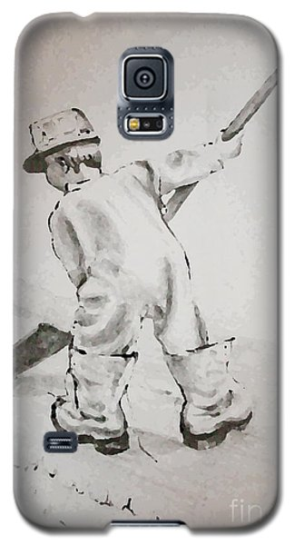 Galaxy S5 Case featuring the drawing Just Like Dad by Joyce Gebauer