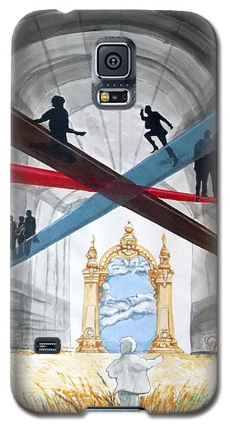 Galaxy S5 Case featuring the painting Just Paths  by Lazaro Hurtado