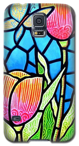 Galaxy S5 Case featuring the painting Just Visiting by Jim Harris