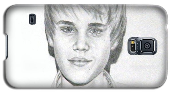 Galaxy S5 Case featuring the drawing Justin Bieber by Lori Ippolito