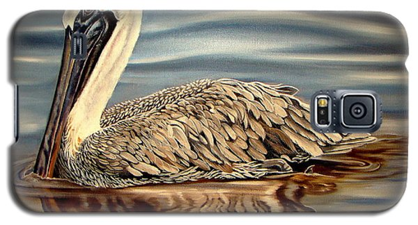Galaxy S5 Case featuring the painting Juvenile Pelican by Phyllis Beiser