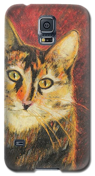 Galaxy S5 Case featuring the painting Kaco by Jeanne Fischer