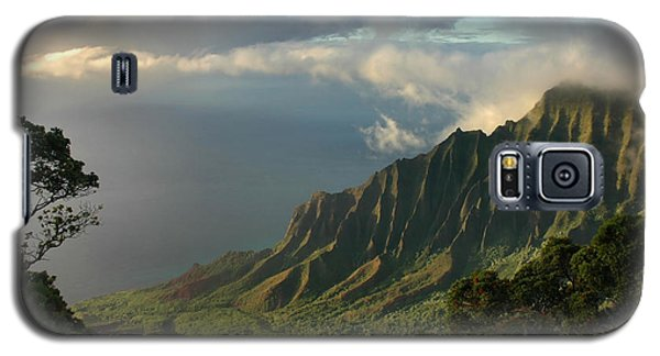 Kalalau Lookout At Sunset Galaxy S5 Case by Stephen  Vecchiotti
