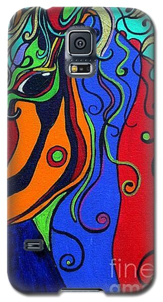 Galaxy S5 Case featuring the painting Kaleidoscope Eyes by Alison Caltrider