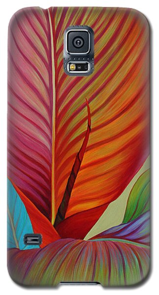 Galaxy S5 Case featuring the painting Kaleidoscope by Sandi Whetzel