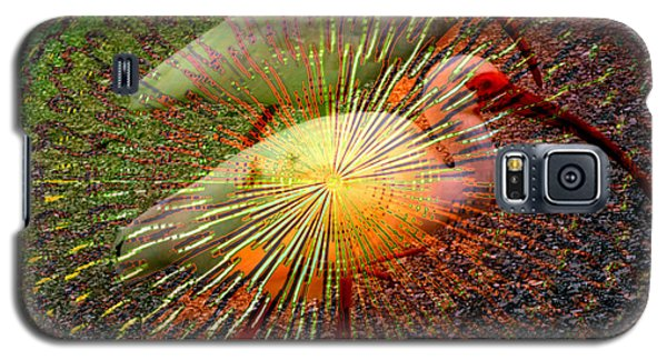 Galaxy S5 Case featuring the digital art Kalidescope Of Ibis by Irma BACKELANT GALLERIES
