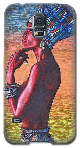 Galaxy S5 Case featuring the painting Kalimba De Luna by Viktor Lazarev
