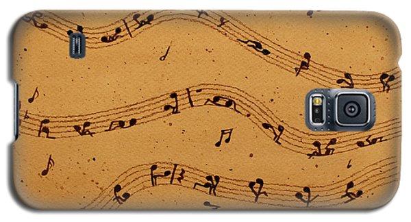 Kamasutra Music Coffee Painting Galaxy S5 Case by Georgeta  Blanaru