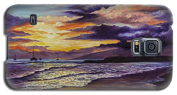 Galaxy S5 Case featuring the painting Kamehameha Iki Park Sunset by Darice Machel McGuire