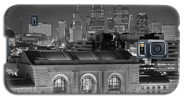 Kansas City Skyline At Night Kc Downtown Black And White Bw Panorama Galaxy S5 Case
