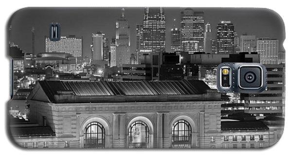 Kansas City Skyline At Night Kc Downtown Black And White Bw Panorama Galaxy S5 Case