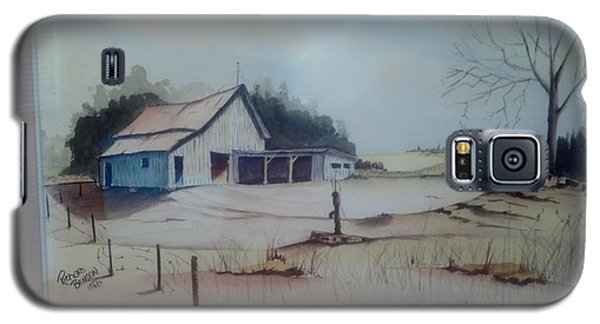 Galaxy S5 Case featuring the painting Kansas Farm by Richard Benson