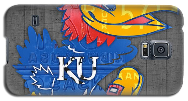 Kansas Jayhawks College Sports Team Retro Vintage Recycled License Plate Art Galaxy S5 Case by Design Turnpike