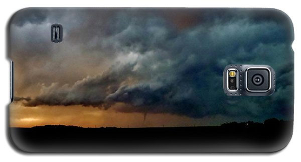 Galaxy S5 Case featuring the photograph Kansas Tornado At Sunset by Ed Sweeney