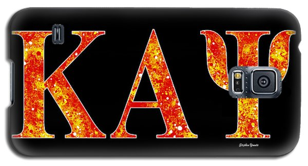 Galaxy S5 Case featuring the digital art Kappa Alpha Psi - Black by Stephen Younts