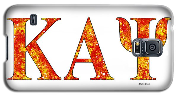 Galaxy S5 Case featuring the digital art Kappa Alpha Psi - White by Stephen Younts