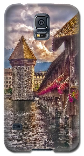 Galaxy S5 Case featuring the photograph Kapellbruecke by Hanny Heim