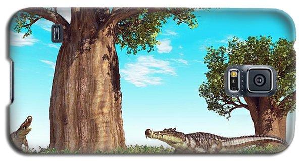 Kaprosuchus Prehistoric Crocodiles Galaxy S5 Case by Walter Myers