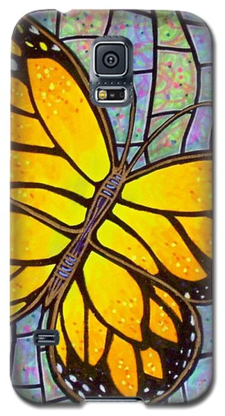 Galaxy S5 Case featuring the painting Karens Butterfly by Jim Harris