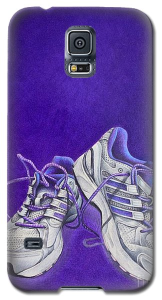 Galaxy S5 Case featuring the painting Karen's Shoes by Pamela Clements