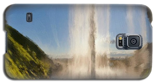 Galaxy S5 Case featuring the painting Karen's Waterfalls by Bruce Nutting