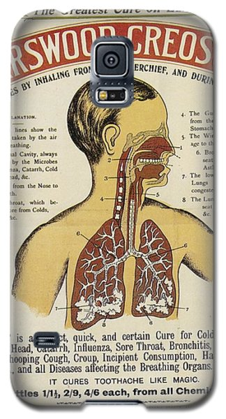 Galaxy S5 Case featuring the photograph Karswood Creosote Medicine Vintage Ad by Gianfranco Weiss