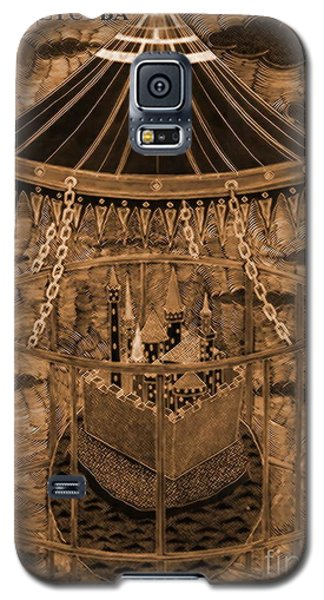 Galaxy S5 Case featuring the drawing Karusel by Yury Bashkin