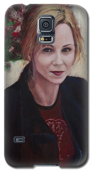Galaxy S5 Case featuring the painting Kat_2013_12 by Ron Richard Baviello