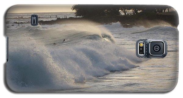 Galaxy S5 Case featuring the photograph Kauai - Brenecke Beach Surf by HEVi FineArt