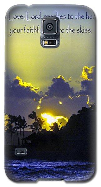 Kauai Sunset Psalm 36 5 Galaxy S5 Case