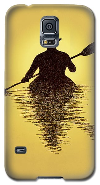 Kayaker Sunset Galaxy S5 Case