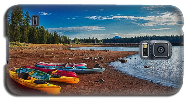 Kayaking On Howard Prairie Lake In Oregon Galaxy S5 Case