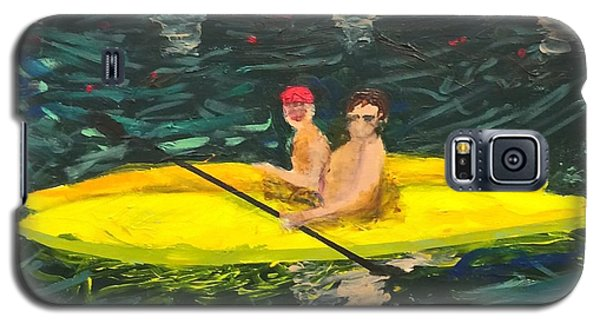 Galaxy S5 Case featuring the painting Kayaks by Donald J Ryker III