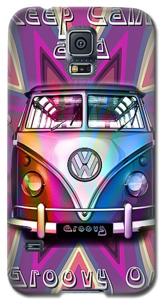 Keep Calm And Groovy On Galaxy S5 Case