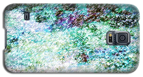 Galaxy S5 Case featuring the mixed media Keep Swimming  by John Fish